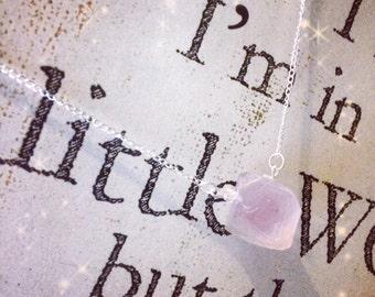 Fluorite Stone Necklace with Swarovski crystals (Handmade)