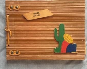 "11.75 x 9"" Vintage Wooden Photo Album"