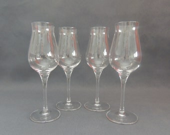 "Spiegelau wine glasses * Digestif glass ""Authentis"" 4 pieces * crystal * as new *."