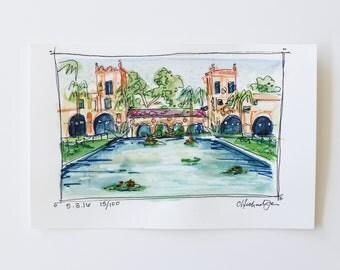 smal sketch of Balboa Park, San Diego