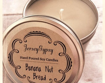 8 oz. Banana Nut Bread Soy Candle