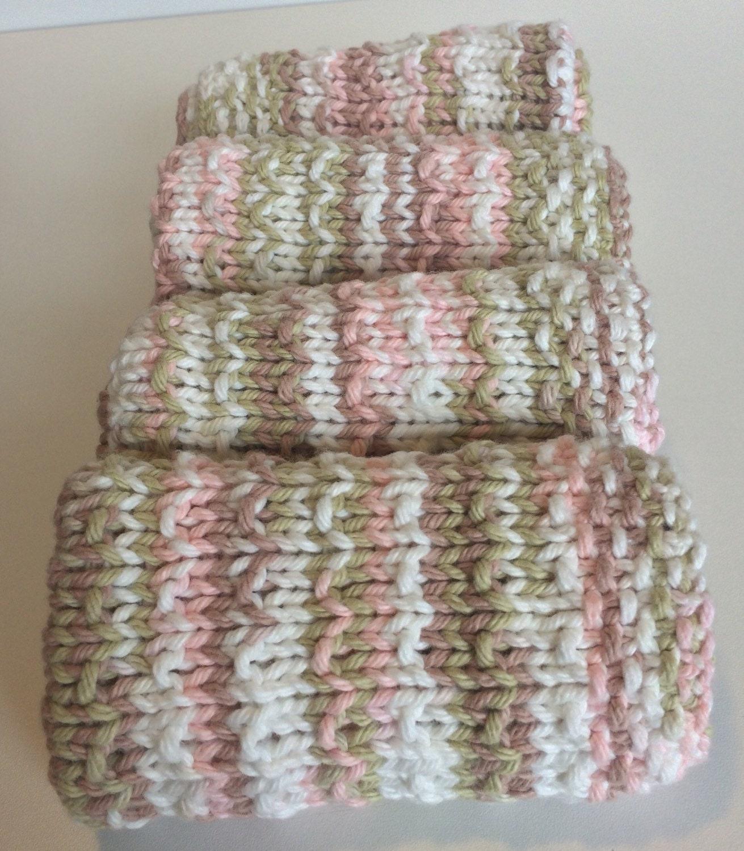 Natural Washcloths Wholesale: Pink Knit Washcloth / Knit Dishcloth / Natural Skin Care