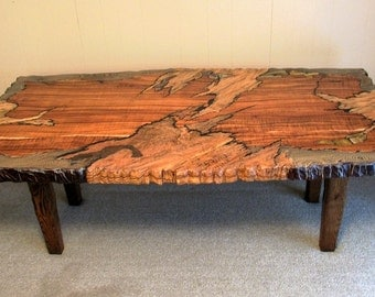 One-of-a-Kind Signed Wooden Dining Table
