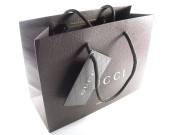 New authentic GUCCI monogram gift bags with Gucci gift tags