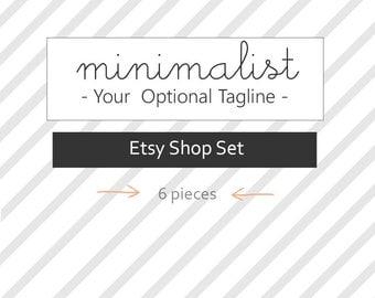 Etsy Shop Set-Etsy shop banners, avatars, custom order image, reserved image