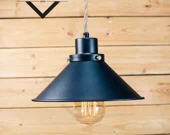 Industrial Aluminium Antique Edison Bulb, Lamp, Rustic Lighting Industrial Pendant Light