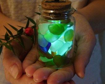Nautical Decor Sea Glass Lantern Beach Wedding Decor