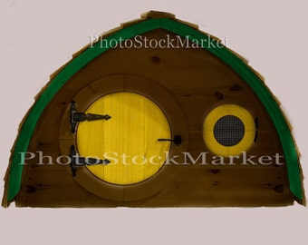 Hobbit House -2 png houses  - PNG - Cut out - Overlay - Photoshop - Round Door - Yellow Door - Unfinished wood house - Fantasy overlay