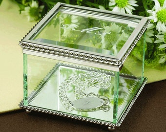 Glass jewelry box Etsy
