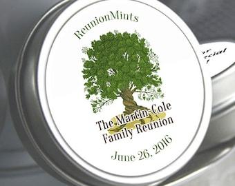 12 Family Reunion Mint Tins - Family Reunion Decor - Family Reunion Party Favors - Family Reunion Candy - Family Tree