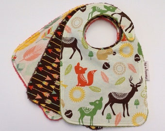 Indian Spring / Woodland / Forrest / Deer / Stag / Fox / Feather / Arrow / Bambi / Unisex / Nature / Timber / Natural / Wood / Absorbent
