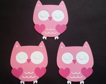 Owl Die Cut Set of 3