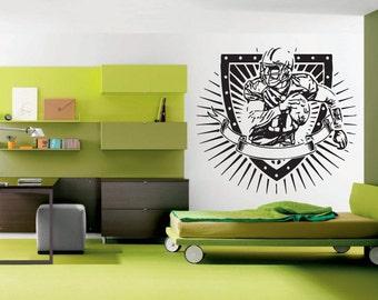 Wall Vinyl Sticker Bedroom American Football Game sport kids play Nursery bo3163