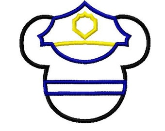 Character Inspired Policeman Embroidery Applique Design