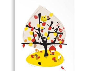 A4 Autumn Season Print