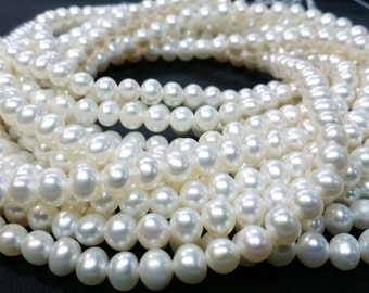 3.00 To 3.50 MM Natural Fresh Water Pearl Potato Shape