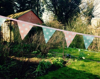 Waterproof bunting banner, outdroor bunting, oilcloth/pvc bunting/ banner, shabby chic bunting, wedding bunting, garden bunting banner