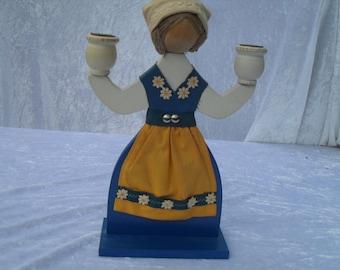 Candle holder swedish handmade