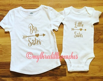 Big sister/little sister shirts -Long or short sleeve