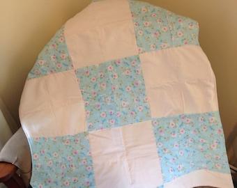 Rose garden baby blanket