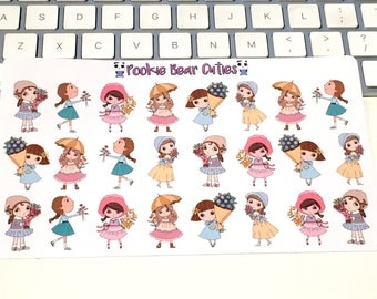 Lovely Girls Stickers!-0137 (deco)