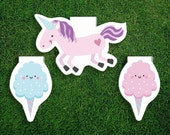 Magnetic Bookmark | Unicorn Cotton Candy Bookmarks Magnet Pack of 3, Magnetic, Cute, Quirky, Food, Fair, Bookmarks, Kawaii.