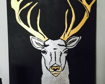 Deer in gold and silver