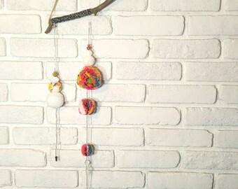 Neon Mix Pom Wall Hanging || Mobile
