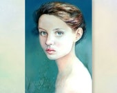 Made to Order, Original watercolor portrait,custom your portrait, Portrait of a girl 11.7x8.3in (21Х29,7см)