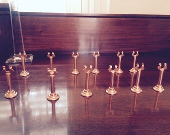 Set of 12 tall rose gold holders