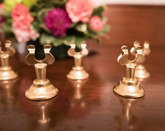 Set of 25 Gold Table Number Holders