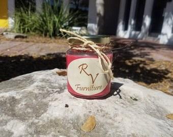 Homemade Rustic Candle Red Apple Jack N Peel