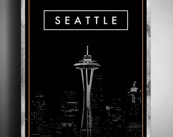 """19"""" x 27"""" Classic Seattle Poster"""