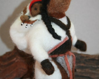Needle Felted Inuk Mother & Child