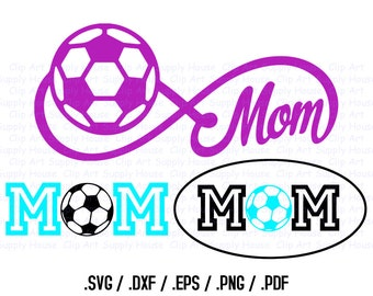 Soccer Mom, Soccer Monogram, Soccer Design Files, Use With Silhouette Software, DXF Files, SVG Font, EPS File, Initials Silhouette - CA236
