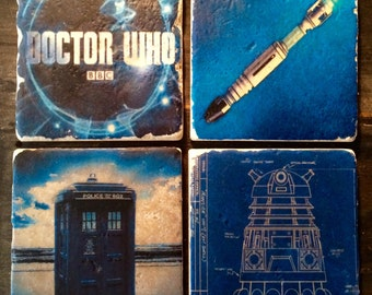 The Elements of Doctor Who Coaster or Decor Accent