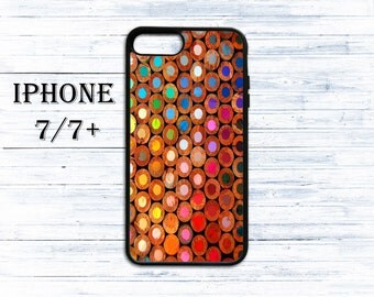 Color pencils phone cover for iPhone 4/4s, iPhone 5/5s/5c, iPhone 6/6+, iPhone 6s/6s Plus, iPhone 7/7+ phones - gift idea case for iPhone