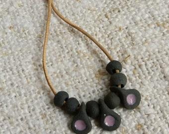 Necklace to Blythe doll. Malow / pendant for dolls Blythe.Malva