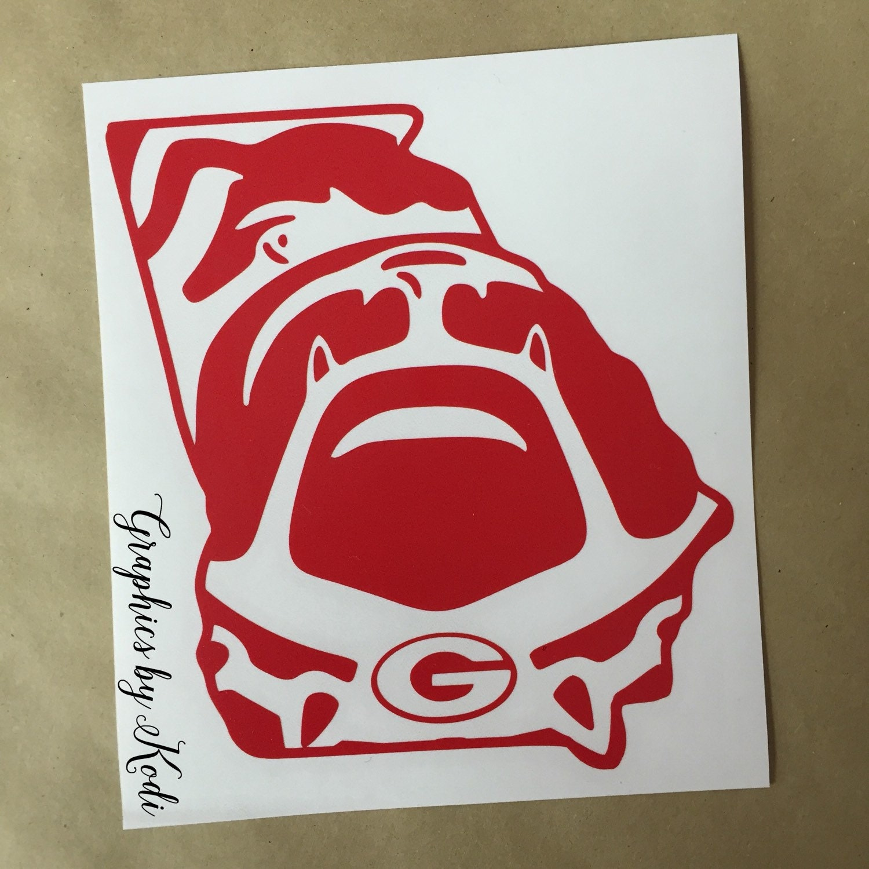 uga bulldog decal sticker university of georgia by