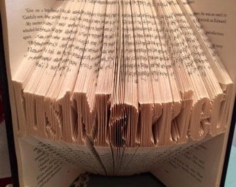 Just Married Book Fold Pattern