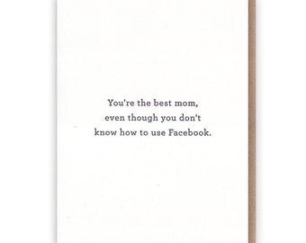 Best Mom - Facebook Card // Letterpress