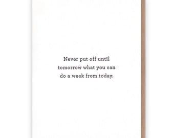 Slacker Card // Letterpress