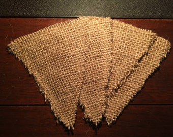 DIY Small Burlap Triangle Pennants 4, 8, 12