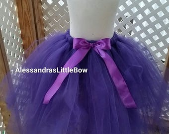 purple full lenght flower girl tutu skirt floor lenght tulle skirt long tutu baby girl cake smash tutu outfit toddler girls tea party tutu