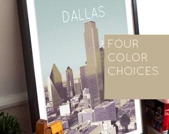 Dallas, TX Poster 11x17 18x24 24x36
