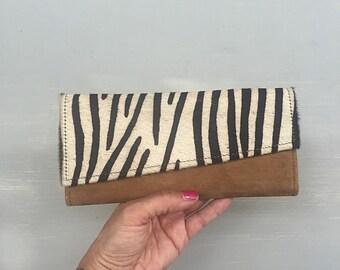 Cowhide Wallet, Cowfur Wallet, Womens Wallet called Joan