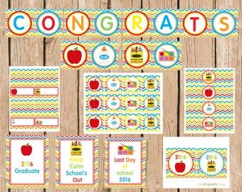 Preschool/Kindergarten Graduation Party Package, Instatn Download, DIY