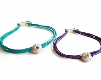 Sterling Silver Sea Urchin Bracelets with or without Gemstone