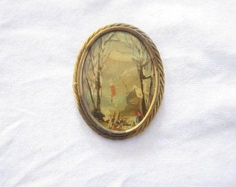 signed vintage brooch
