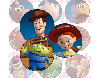 "Toy Story 1"" Bottle Cap Images - Instant Download"